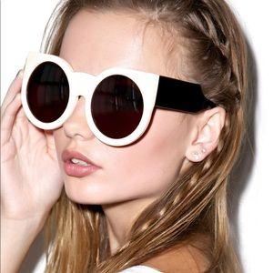 Wildfox black/cream Granny sunglasses